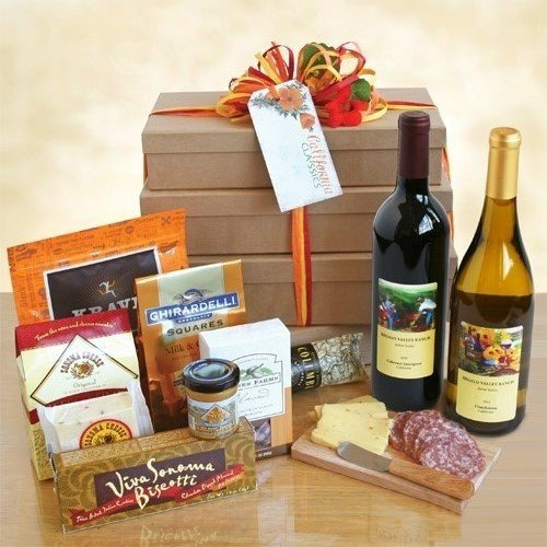 Elegant Wine and Cheese Escape Gift Basket