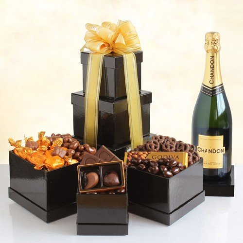 Chardon Sparkling Wine and Chocolate Surprise Gift