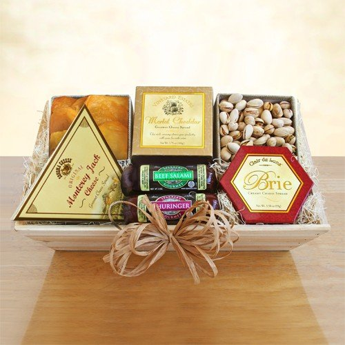 Meat, Cheese and Nuts Gift Crate