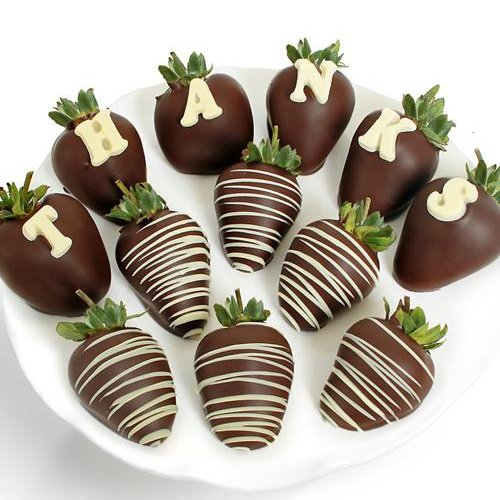 Thank You Belgian Chocolate Covered Strawberries