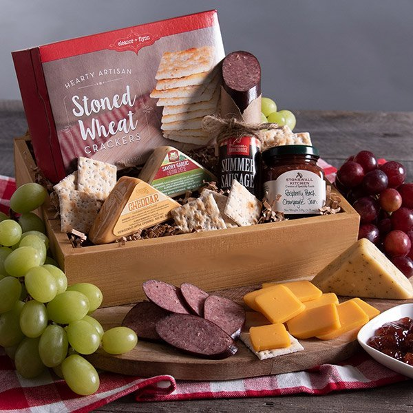Cheese & Meat Sampler: Gourmet Gift Crate