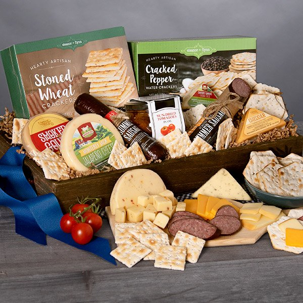 Gourmet Deluxe: Meat & Cheese Gift Sampler