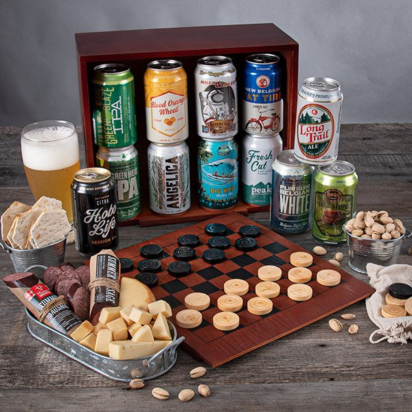 Game Night: Beer & Snacks Gift Crate - Twelve Beers