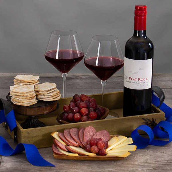 Countryside Delights: Red Wine Gift Basket