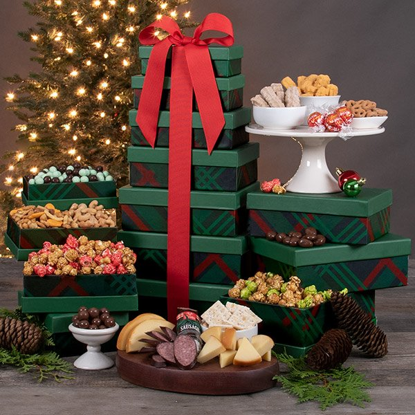 Deck the Halls: Gourmet Gift Tower