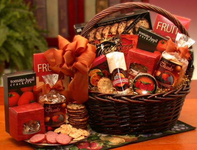 A World Of Thanks Grand Gourmet Gift Basket