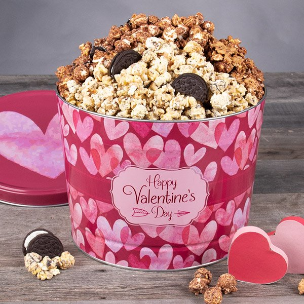 Cupid's Crunch: Valentine's Day Popcorn Tin
