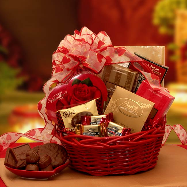 Chocolate Inspirations Valentine Gift Basket American Gifts