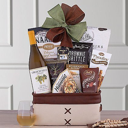 Grgich Hills Wine Gift Basket: Your Choice of Red or White Wine